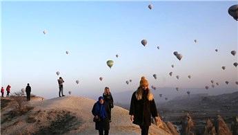 Kapadokya'yı 329 bin turist kuş bakışı izledi