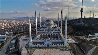 Çamlıca Camisi'nin inşaatında sona yaklaşıldı