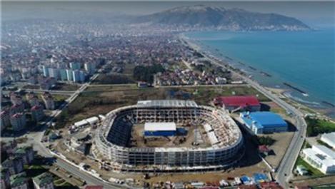 Yeni Ordu Stadı'nın kaba inşaatı tamamlandı