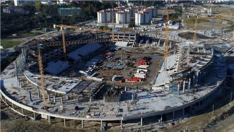 Çotanak Stadı'nın kaba inşaatının yüzde 88'i tamamlandı