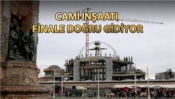 Taksim camisinin kubbesi yükseliyor