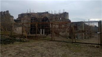 Edirne Enez Fatih Camisi'nin restorasyon çalışmaları sürüyor