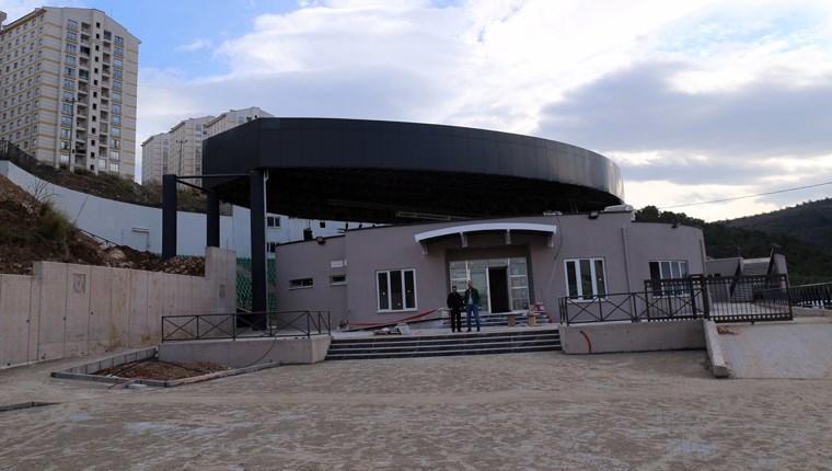 Kestel Açık Hava Tiyatrosu'nun inşaatı hızla sürüyor