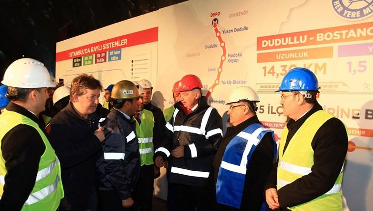 Dudullu-Bostancı Metro Hattı'nın tünelleri birleşti
