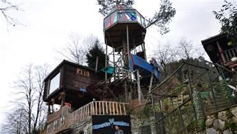 Artvin'de ağaç üzerine yapılan ev turistleri ağırlıyor
