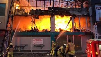 Ümraniye'de mobilya deposunda yangın