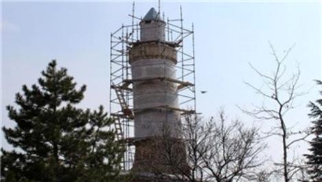 Ulu Cami'nin minaresi restore ediliyor