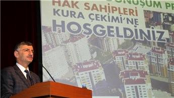 Rize'de inşa edilen 753 konutun kurası çekildi