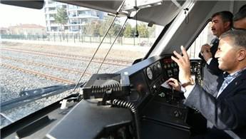 Arslan, Konya-Karaman YHT'de test sürüşü yaptı