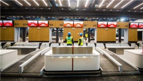 3. Havalimanı'nda biniş bankoları yerleştirilmeye başlandı