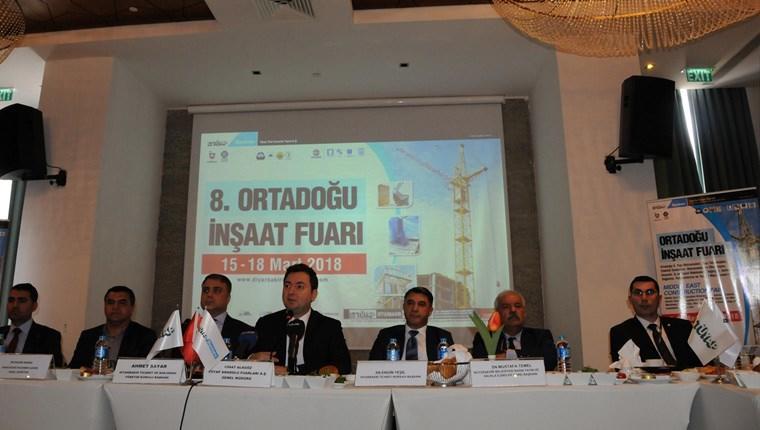 """Diyarbakır'da """"8. Ortadoğu İnşaat Fuarı"""" yarın açılıyor"""