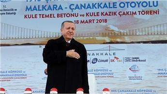 Cumhurbaşkanı, Çanakkale Köprüsü'nün açılış tarihini açıkladı