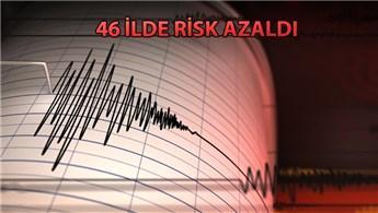 AFAD, deprem riski artan ve azalan illeri açıkladı