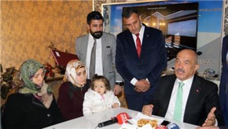 Afrin şehidinin ailesine rezidans hediye edildi