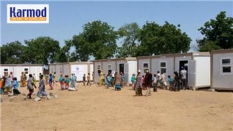 Karmod Prefabrik, Nijerya'da mülteci barınma kampı kurdu