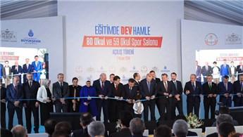 İstanbul'da 80 okul ve 59 okul spor salonu açıldı