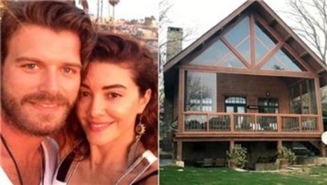 Kıvanç Tatlıtuğ ve Başak Dizer çifti artık kütük evde yaşayacak