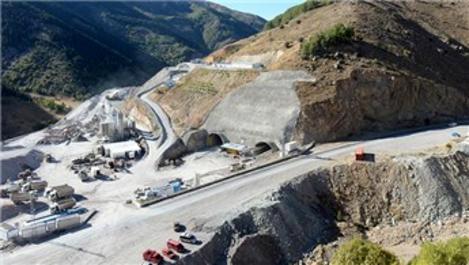 Giresun'daki Eğribel Tüneli'nde son 500 metreye gelindi
