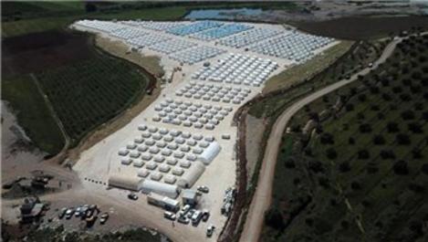 AFAD'ın Afrin'de kurduğu çadır kent görüntülendi
