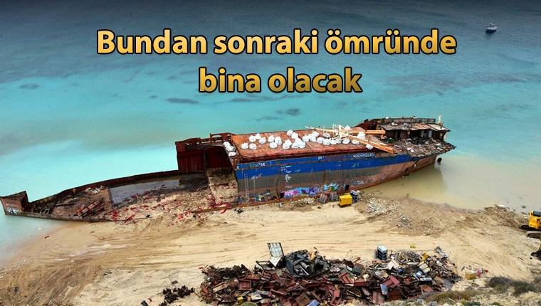 Çanakkale'deki kuru yük gemisi inşaat demiri haline getirilecek