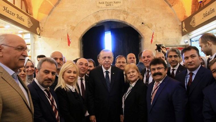 Cumhurbaşkanı Erdoğan, Mısır Çarşısı'nın açılışını yaptı