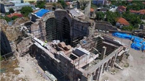 Enez Kalesi ve Enez Fatih Camisi restorasyonu sürüyor