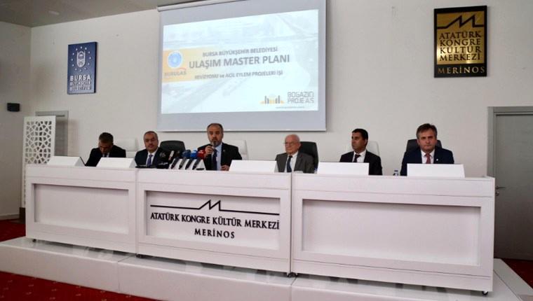 Bursa'da 15 yıllık ulaşım master planı hazırlandı