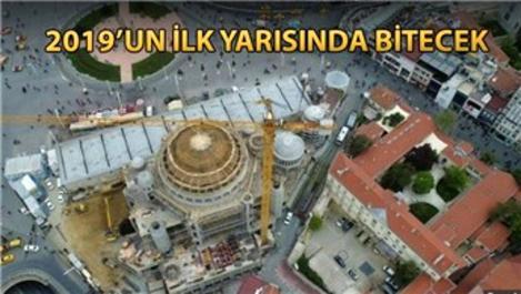 Taksim Camisi'nin minarelerinin inşaatına başlandı