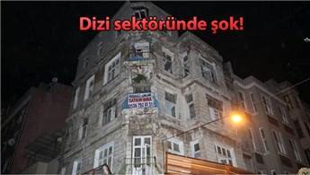 İstanbul'daki o bina çöktü, polis yolu kapattı!