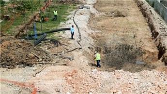 Sekapark-Plaj yolu tramvay hattında çalışmalar sürüyor