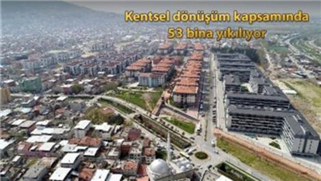 Bursa Soğanlı'da riskli alandaki binalar yıkılıyor