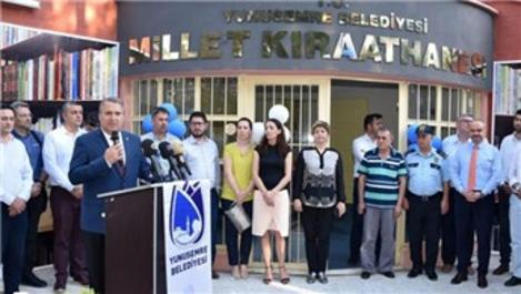 Manisa'da 'Millet Kıraathanesi' açıldı