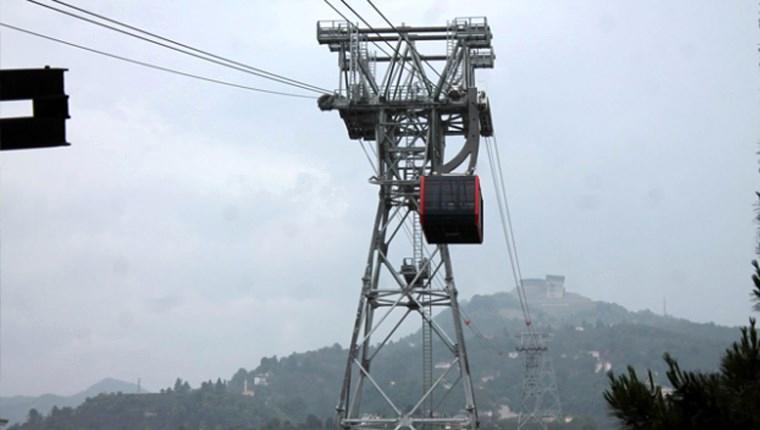 Karadeniz'in en uzun teleferik hattı Trabzon'da hizmete girdi