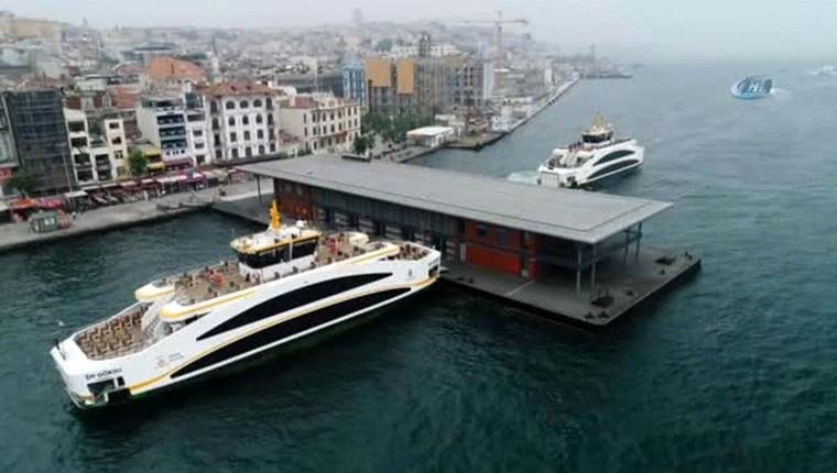 Karaköy'de akıllı yüzer iskele hizmete girdi