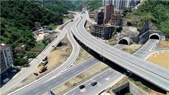 Trabzon'da 23 kilometrelik güzergah üzerine 17 tünel!