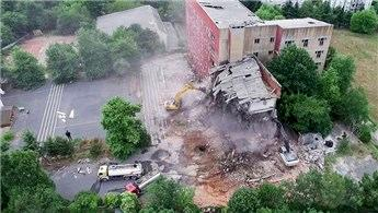Eski Etiler Polis Okulu'nda yıkım başladı
