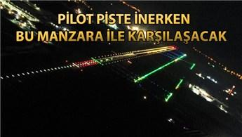 3. Havalimanı'nın ışıklandırması havadan görüntülendi