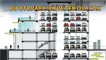 Trabzon'da 9 katlı tam otomatik otopark yapılıyor