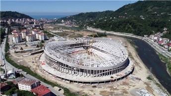 Giresun Çotanak Stadı'nın yüzde 70'i tamamlandı
