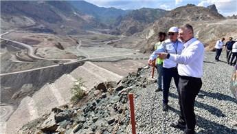 DSİ Genel Müdürü Yusufeli Barajı'nda incelemelerde bulundu