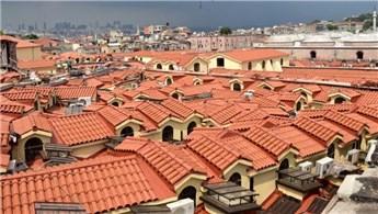 Kapalıçarşı'nın çatısında 1 milyon kiremit kullanıldı