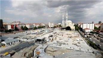 Bağcılar meydanı ve zemin altı otoparkı inşaatında sona gelindi