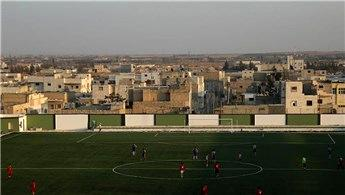 Bab'da 10 dönümlük alana spor kompleksi yapıldı