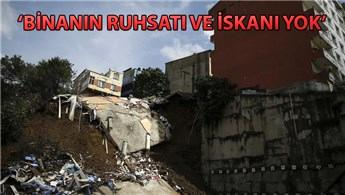 Beyoğlu Sütlüce'de boşaltılan bina çöktü