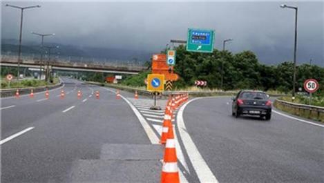 Anadolu Otoyolu belirli saatlerde ulaşıma kapatılacak!