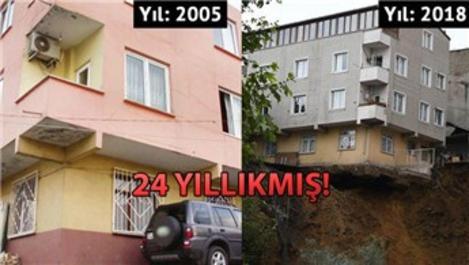 Sütlüce'de yıkılan binanın 13 yıl önceki fotoğrafı!