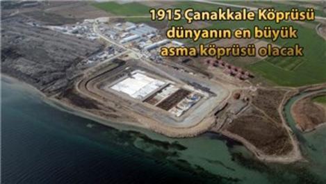 1915 Çanakkale Köprüsü'ndeki çalışmalar tam gaz devam ediyor