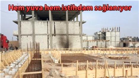 Fırat Kalkanı bölgesinde inşaat sektörü hareketlendi