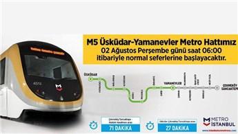 Üsküdar-Yamanevler metrosu seferlere başladı