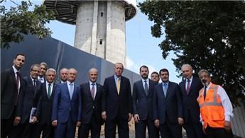 Cumhurbaşkanı Erdoğan, Çamlıca Kulesi'nde incelemelerde bulundu